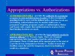 appropriations vs authorizations