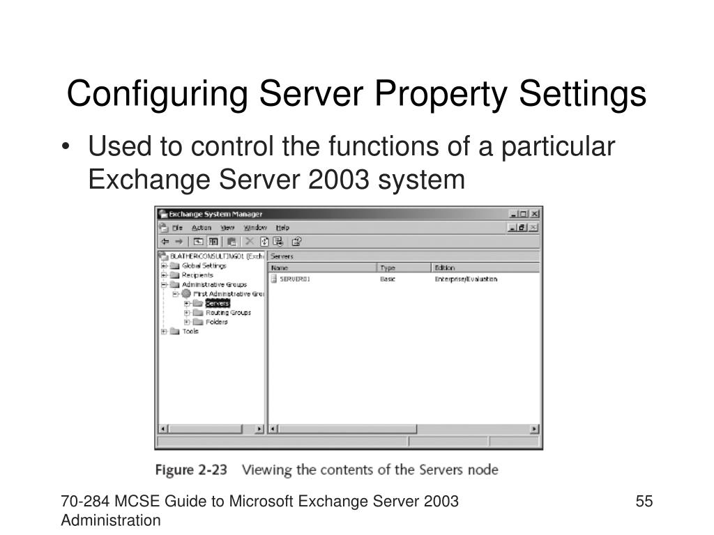 Configuring Server Property Settings