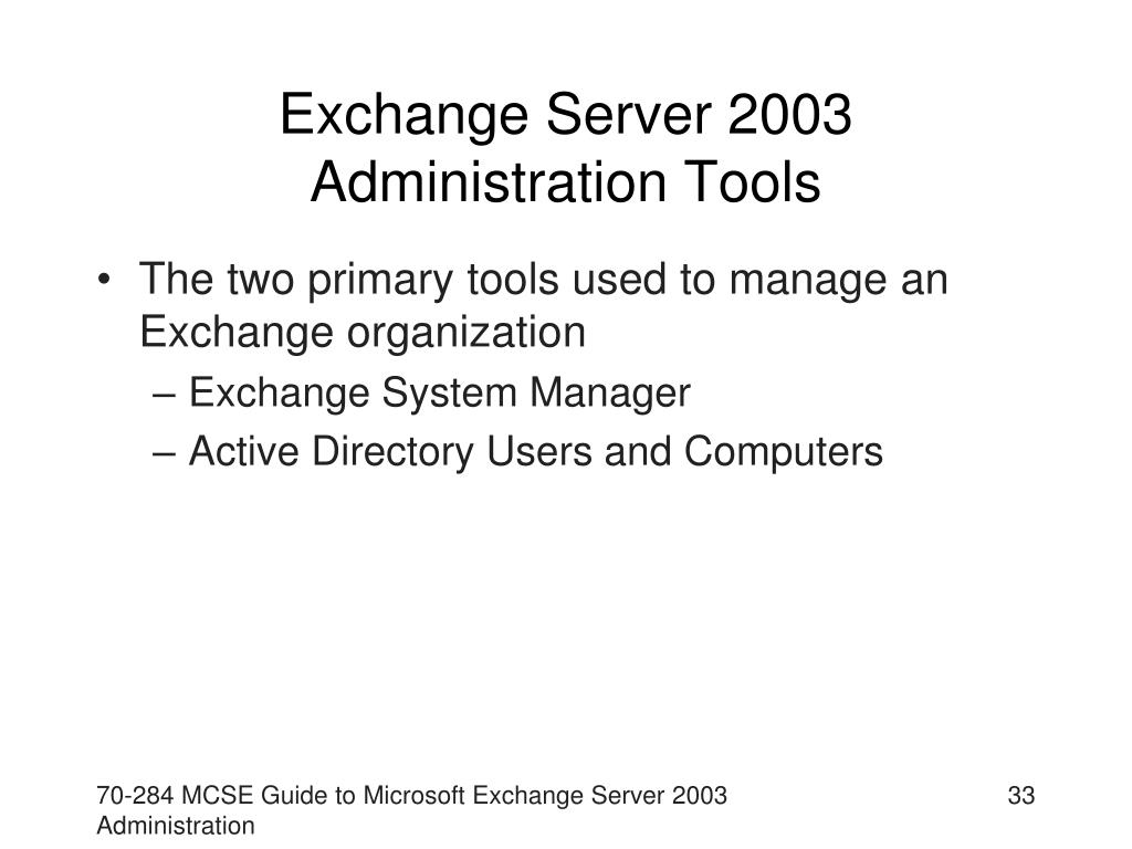 Exchange Server 2003 Administration Tools