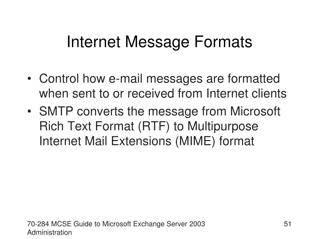 Internet Message Formats