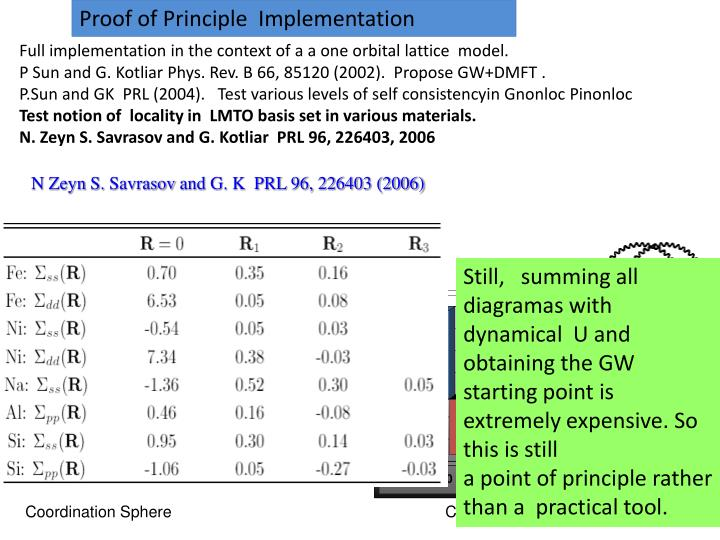 Proof of Principle  Implementation