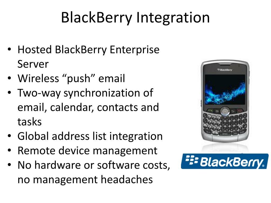 BlackBerry Integration
