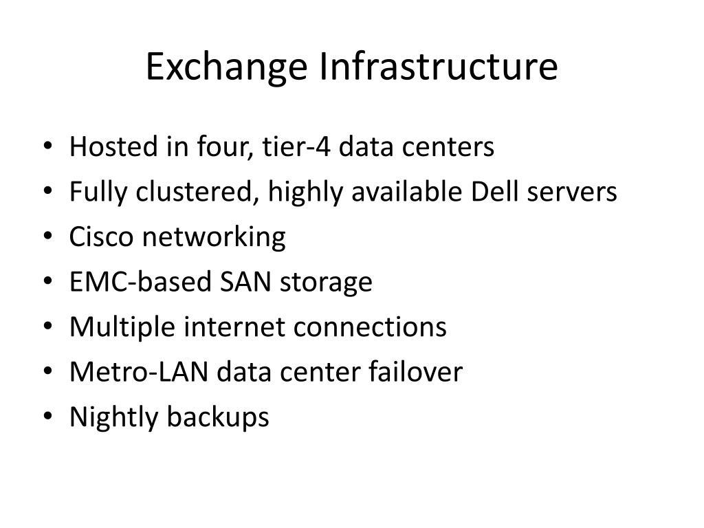 Exchange Infrastructure