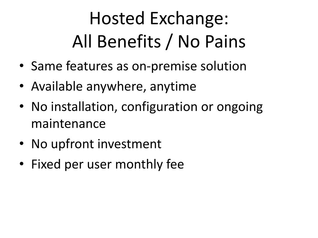 Hosted Exchange: