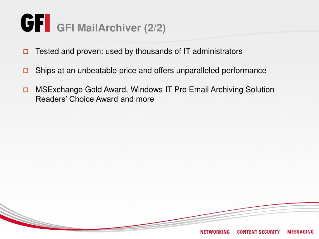 GFI MailArchiver (2/2)
