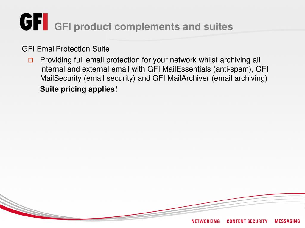 GFI product complements and suites