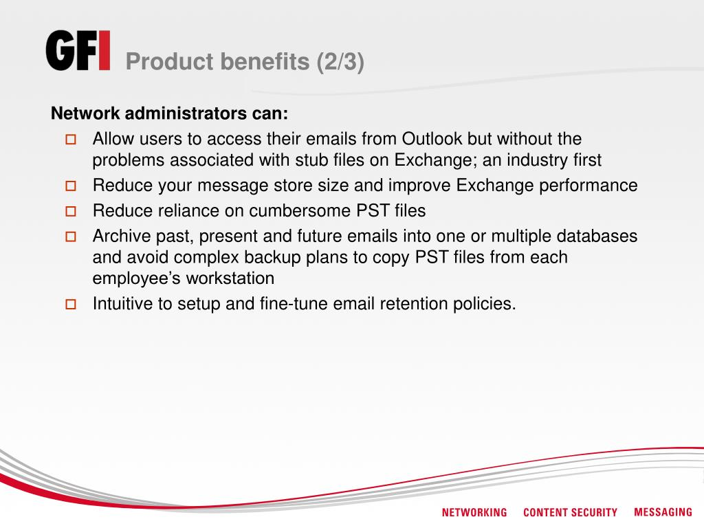 Product benefits (2/3)
