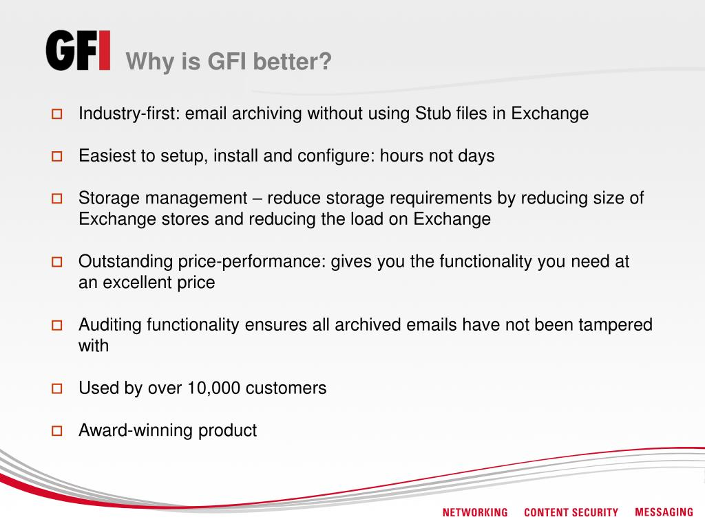 Why is GFI better?