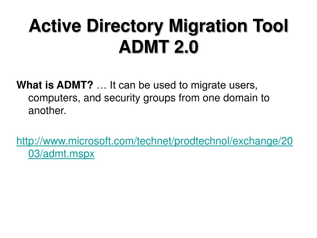 Active Directory Migration Tool