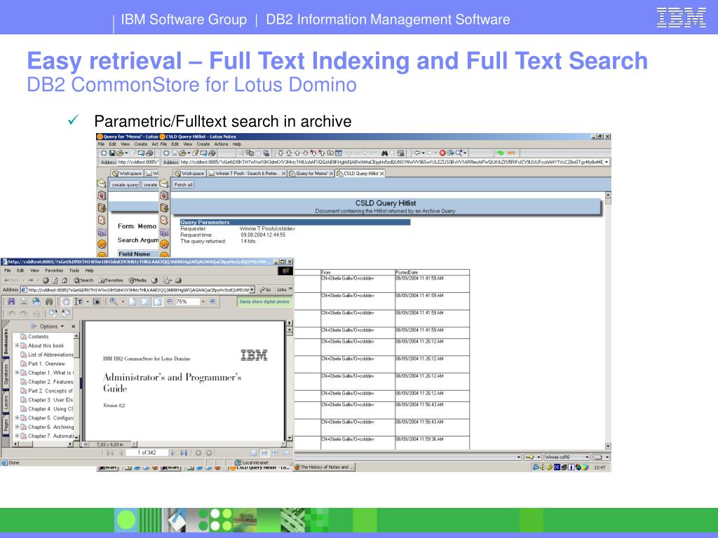 Easy retrieval – Full Text Indexing and Full Text Search