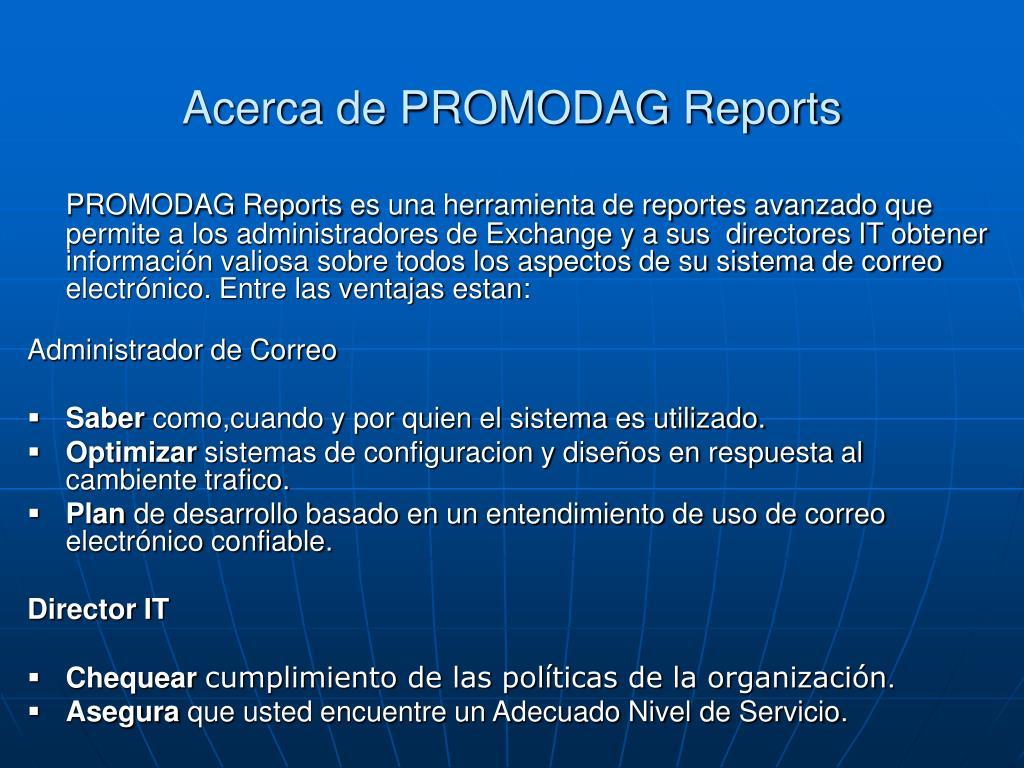 Acerca de PROMODAG Reports