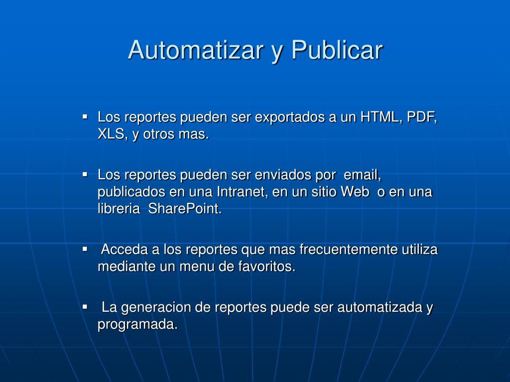 Automatizar y Publicar