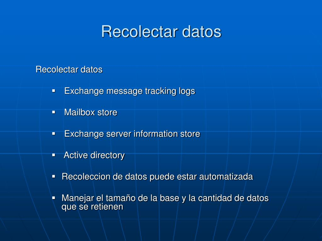 Recolectar datos