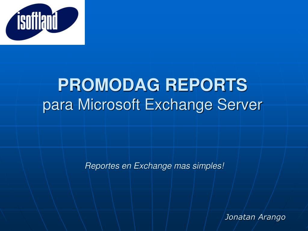 PROMODAG REPORTS