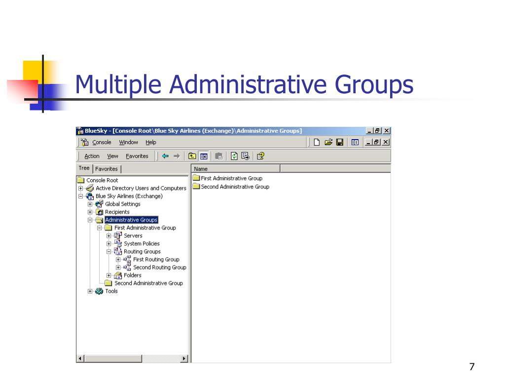 Multiple Administrative Groups