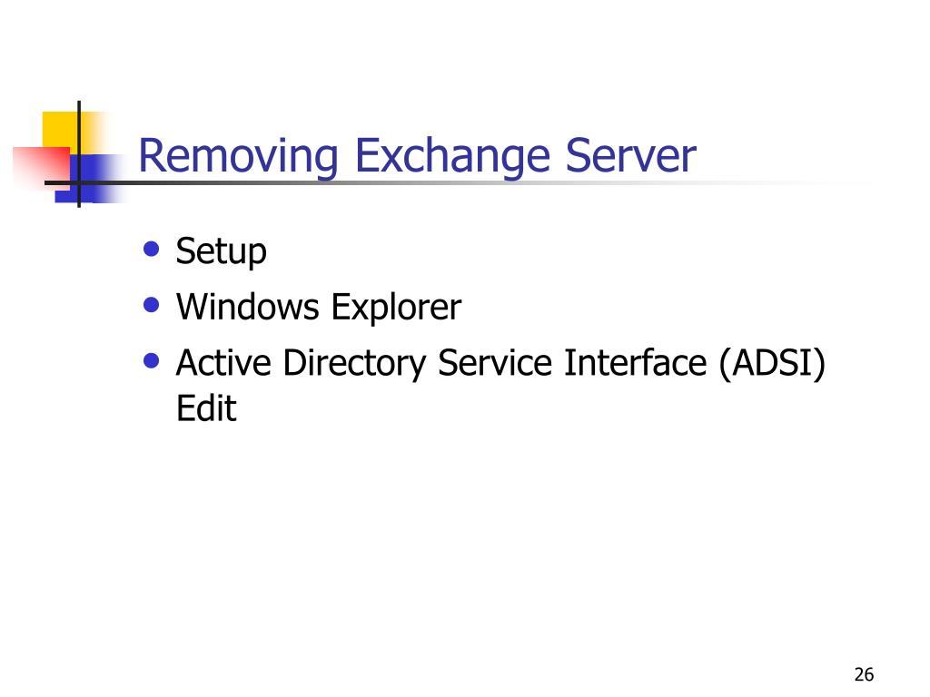 Removing Exchange Server