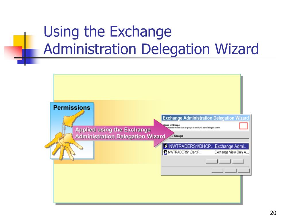 Using the Exchange Administration Delegation Wizard