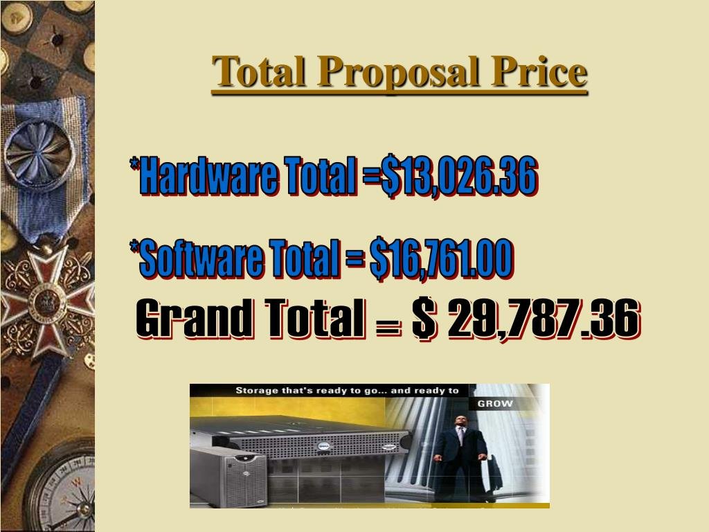 Total Proposal Price