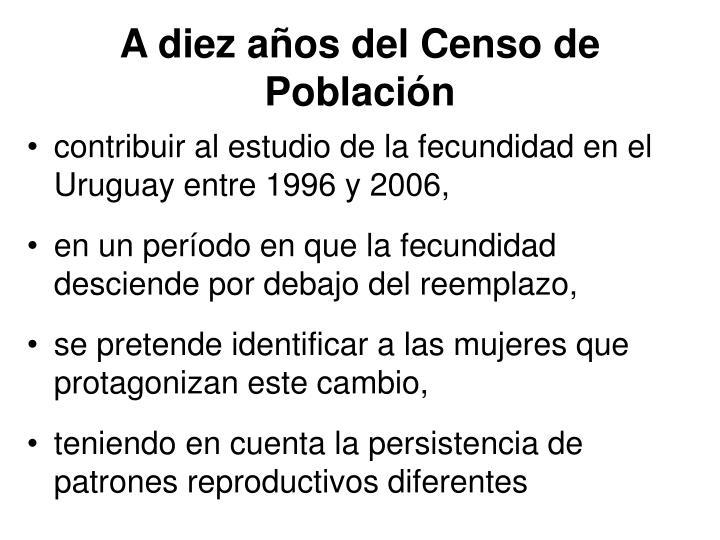A diez años del Censo de Población