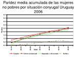 paridez media acumulada de las mujeres no pobres por situaci n conyugal uruguay 2006