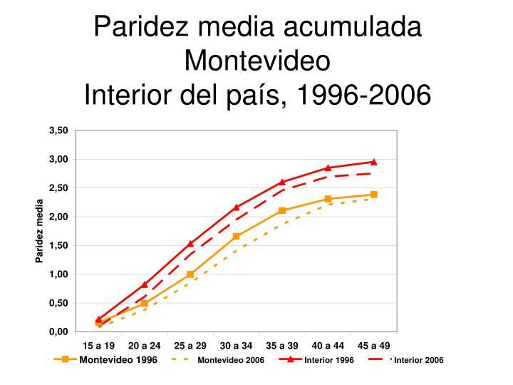 Paridez media acumulada Montevideo