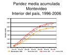 paridez media acumulada montevideo interior del pa s 1996 2006