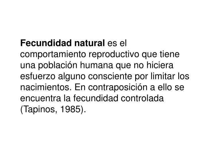 Fecundidad natural
