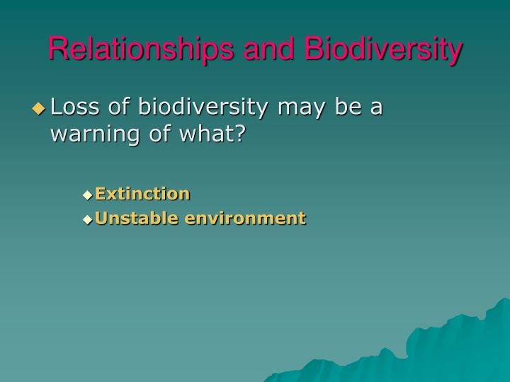 Relationships and Biodiversity