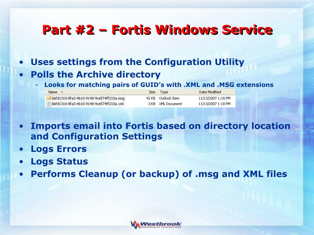 Part #2 – Fortis Windows Service