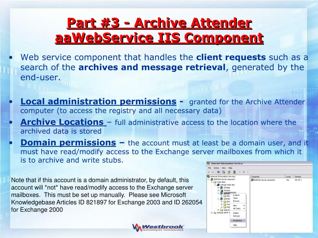 Part #3 - Archive Attender