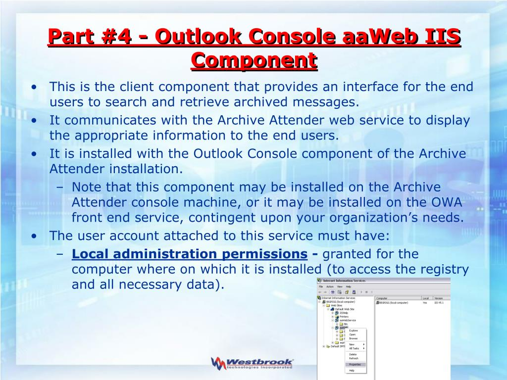 Part #4 - Outlook Console