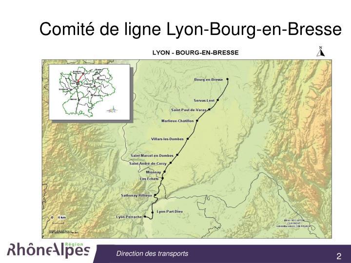 Comité de ligne Lyon-Bourg-en-Bresse