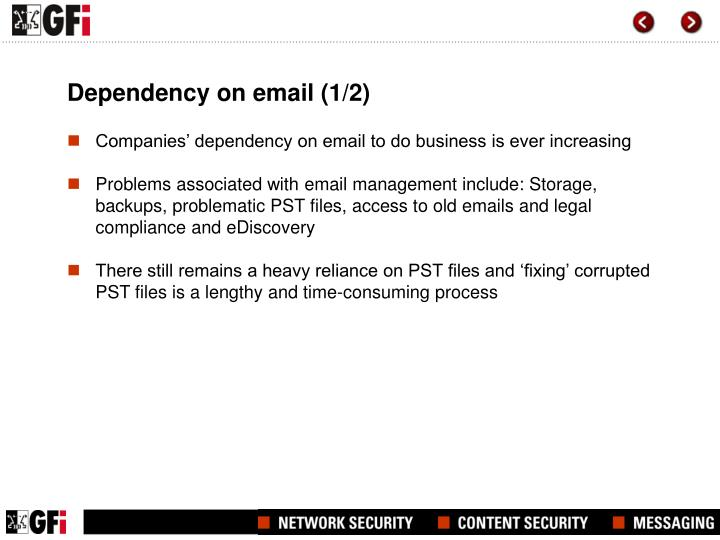 Dependency on email 1 2
