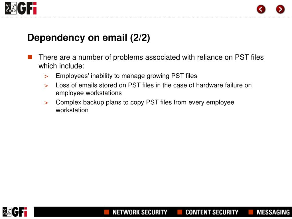 Dependency on email (2/2)