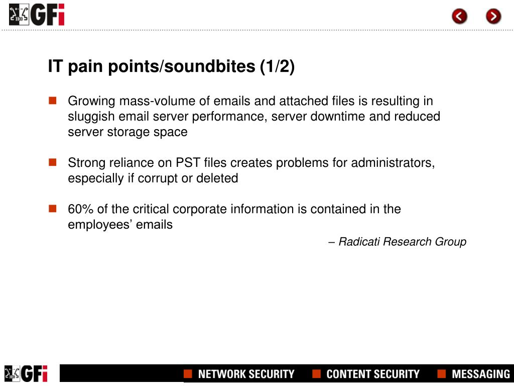 IT pain points/soundbites