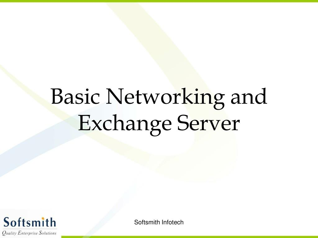 Basic Networking and