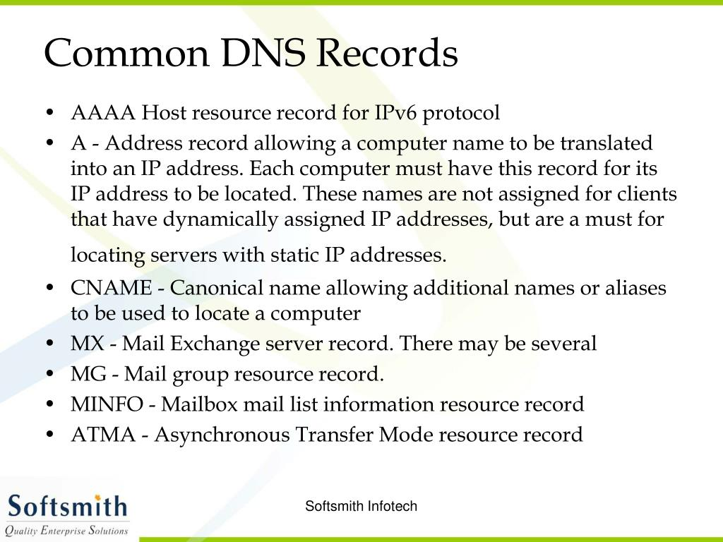 Common DNS Records