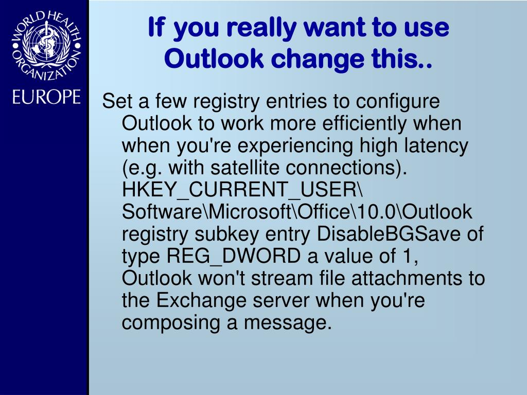 If you really want to use Outlook change this..