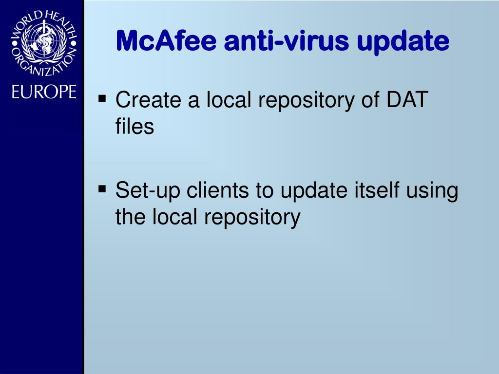 McAfee anti-virus update
