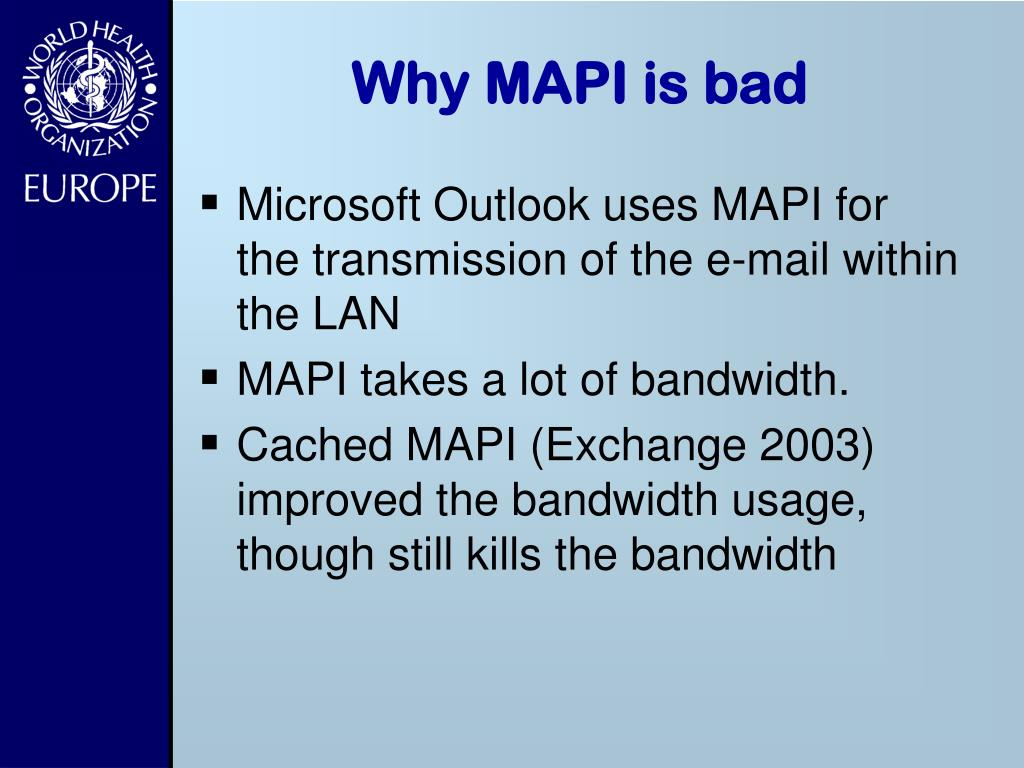 Why MAPI is bad