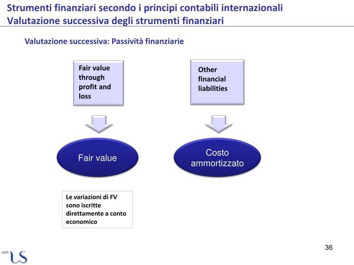 Valutazione successiva: Passività finanziarie