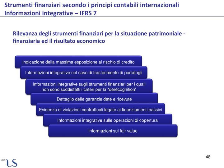 Rilevanza degli strumenti finanziari per la situazione patrimoniale - finanziaria ed il risultato economico