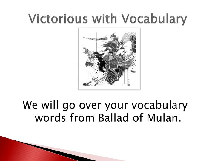 Victorious with Vocabulary