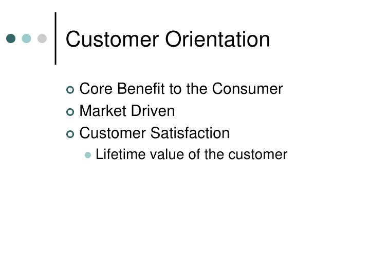 Customer Orientation
