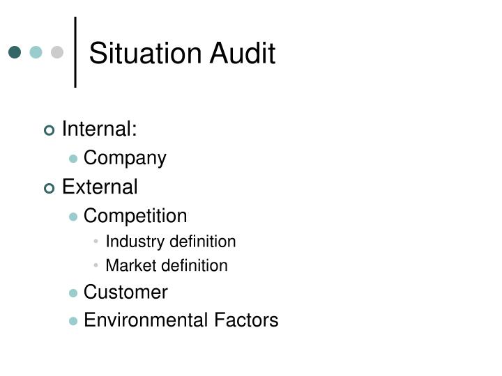 Situation Audit