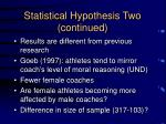 statistical hypothesis two continued1