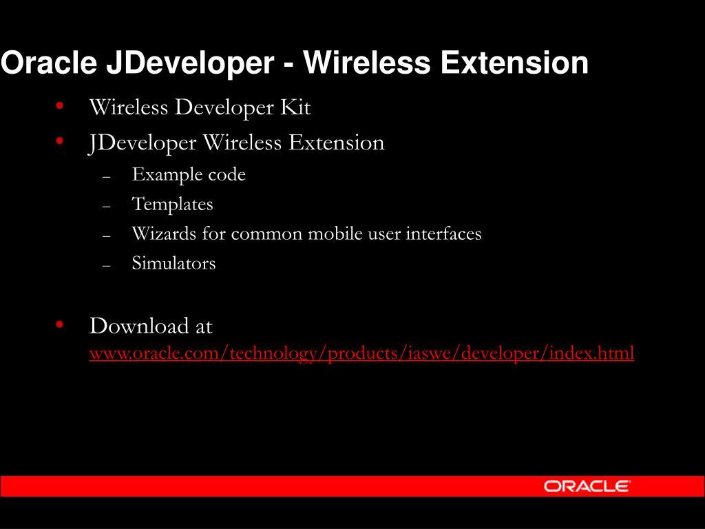 Oracle JDeveloper - Wireless Extension