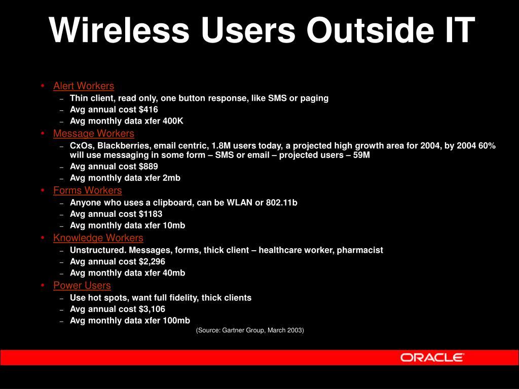 Wireless Users Outside IT