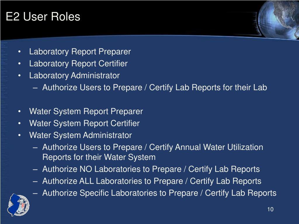 E2 User Roles