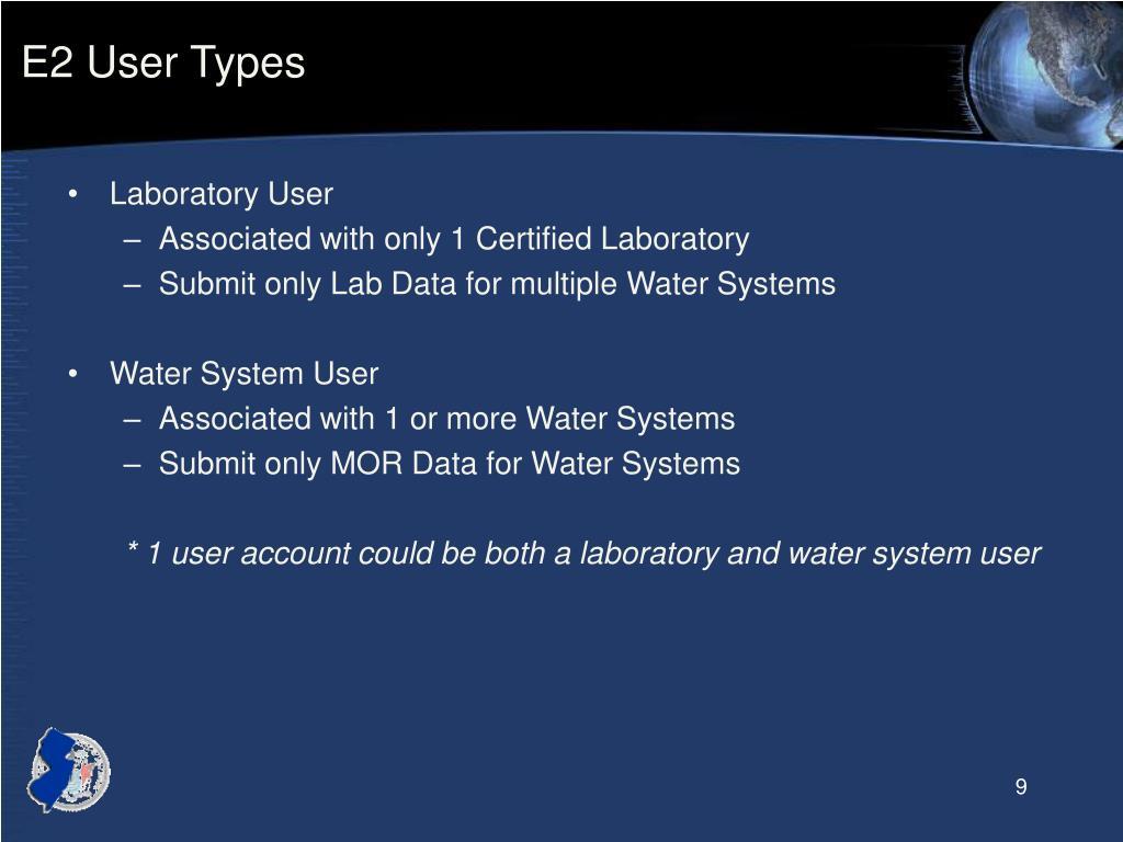 E2 User Types